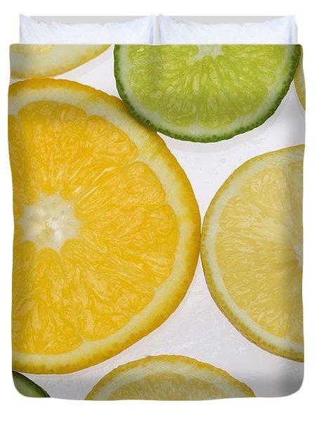 Citrus Slices Duvet Cover by Kelly Redinger