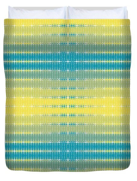 Duvet Cover featuring the digital art Citrus Warp 3 by Kevin McLaughlin