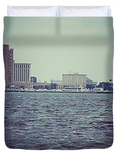 City Across The Sea Duvet Cover by Thomasina Durkay