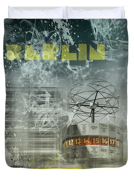 City-art Berlin Alexanderplatz  Duvet Cover by Melanie Viola