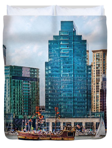 City - Baltimore Md - Harbor East  Duvet Cover