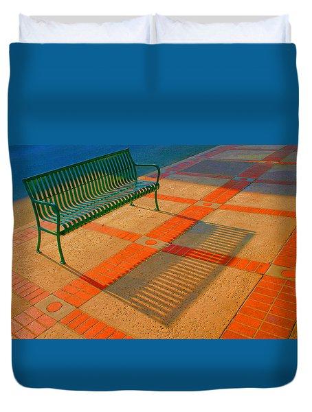 City Bench Still Life Duvet Cover by Ben and Raisa Gertsberg