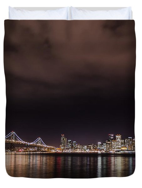 City By The Bay Duvet Cover by Linda Villers