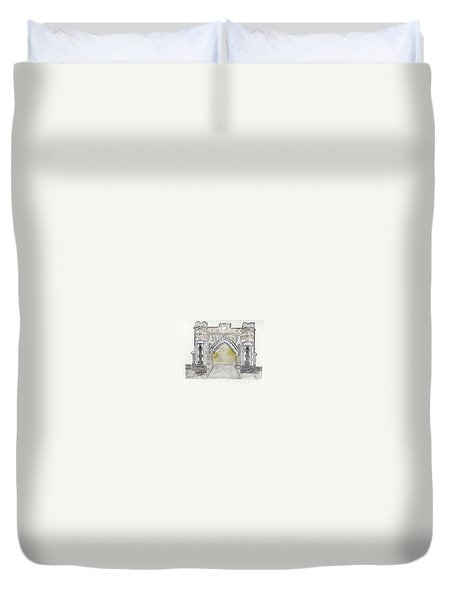 City College Of New York Duvet Cover by AFineLyne