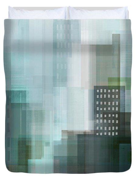 City Emerald Duvet Cover