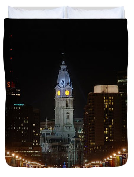 City Hall At Night Duvet Cover