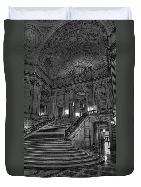 City Hall Grand Stairs Duvet Cover