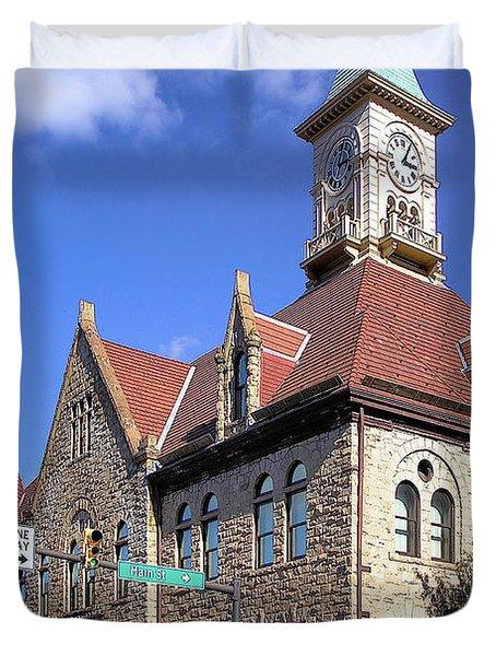 City Hall - Johnstown Pa Duvet Cover