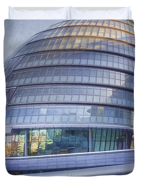 City Hall London Duvet Cover by Joan Carroll