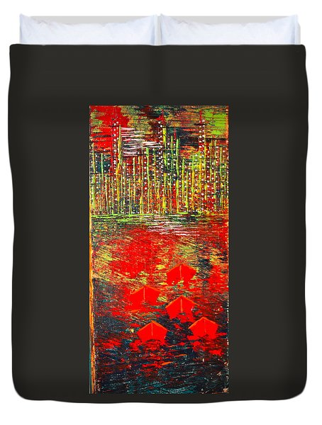 City Lights - Sold Duvet Cover