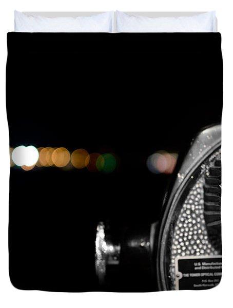 City Lights In Bokeh Duvet Cover