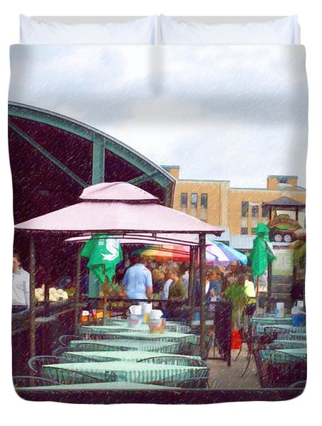 City Market Duvet Cover by Liane Wright