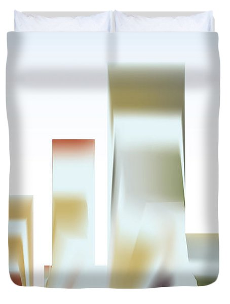 Duvet Cover featuring the digital art City Mesa by Kevin McLaughlin