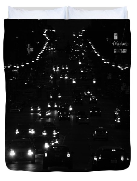 City Nights Duvet Cover by Empty Wall