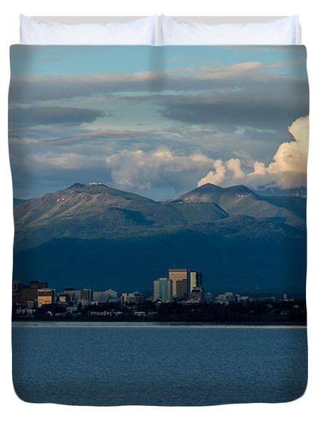 City Of Anchorage  Duvet Cover