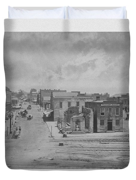 City Of Atlanta 1863 Duvet Cover by War Is Hell Store