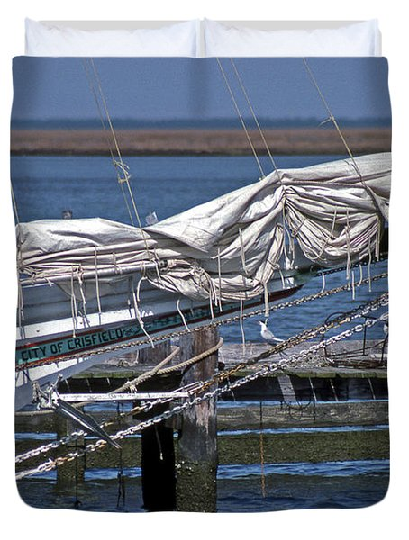 City Of Crisfield Duvet Cover