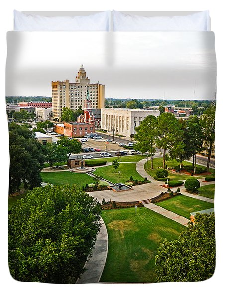 Duvet Cover featuring the photograph City Of Monroe by Ester  Rogers