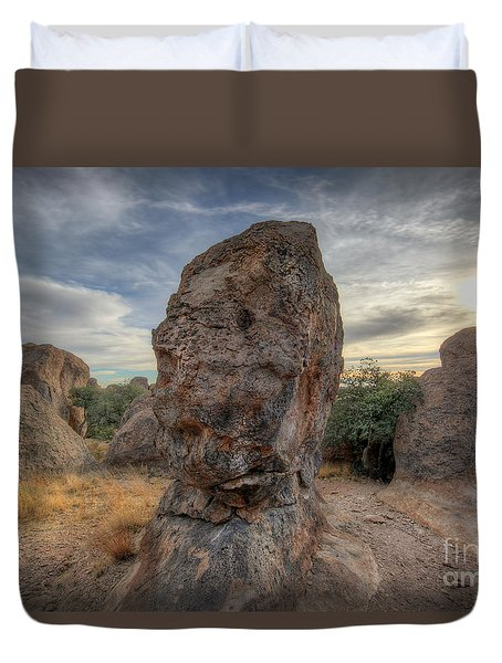 Duvet Cover featuring the photograph City Of Rocks by Martin Konopacki