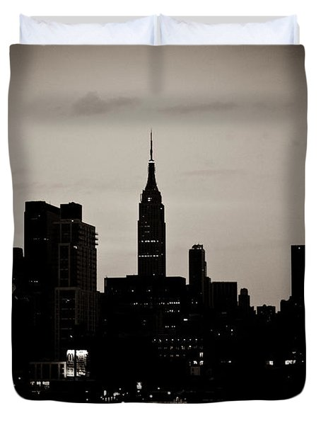 City Silhouette Duvet Cover by Sara Frank