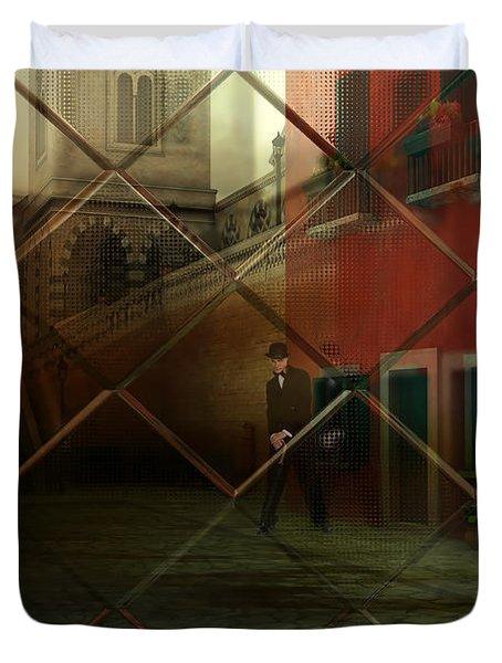 City Street Duvet Cover by Liane Wright