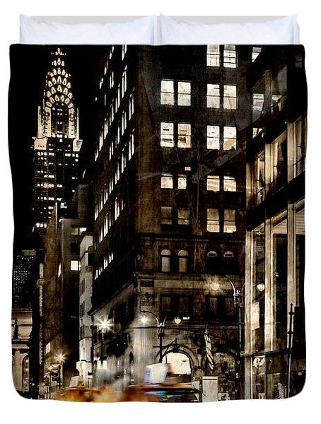 City Streets  Duvet Cover