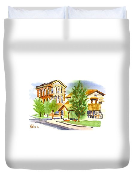 City Streets Duvet Cover by Kip DeVore