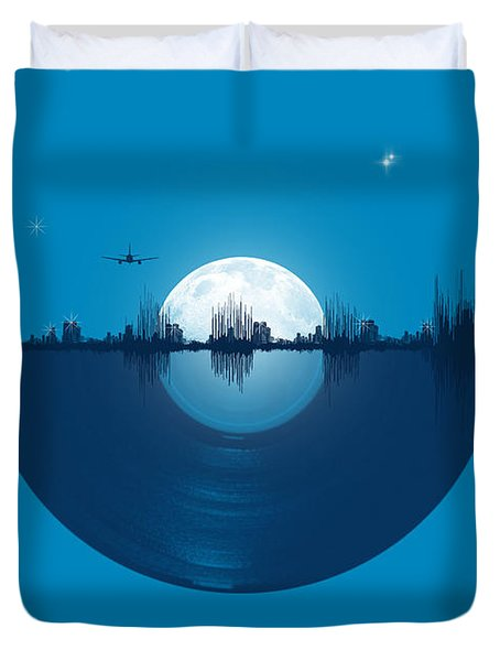 City Tunes Duvet Cover