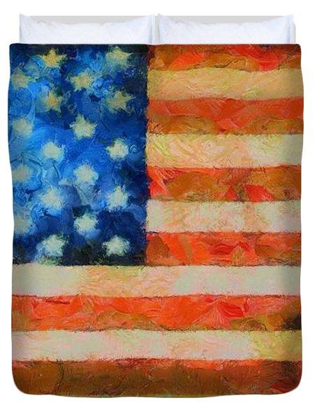 Civil War Flag Duvet Cover by Dan Sproul