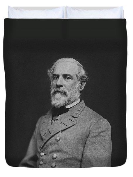 Civil War General Robert E Lee Duvet Cover by War Is Hell Store