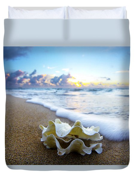 Clam Foam Duvet Cover by Sean Davey