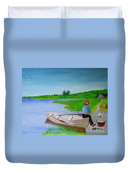 Clam Tucker Duvet Cover by Bill Hubbard