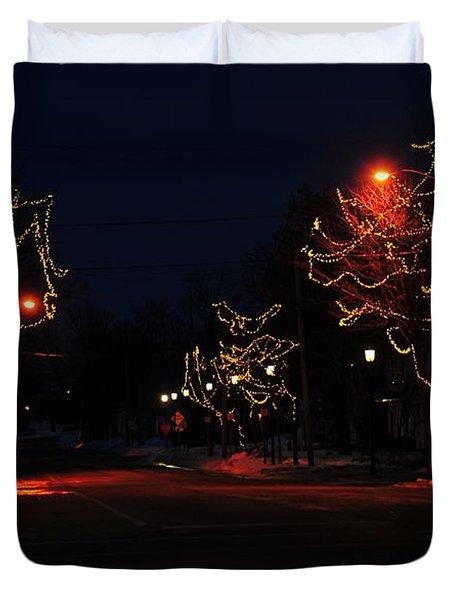 Clare Michigan At Christmas 12 Duvet Cover