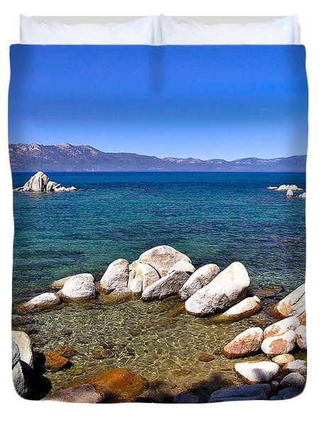 Clarity - Lake Tahoe Duvet Cover