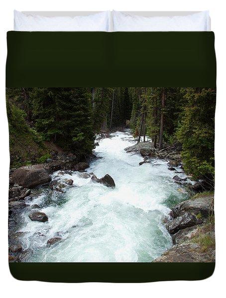 Clark's Fork River Duvet Cover