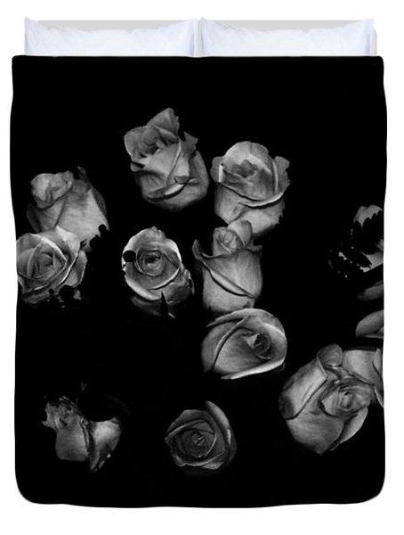 Classic Black Roses Duvet Cover