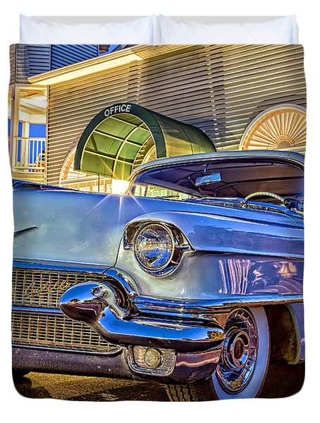 Classic Blue Caddy At Night Duvet Cover by Edward Fielding