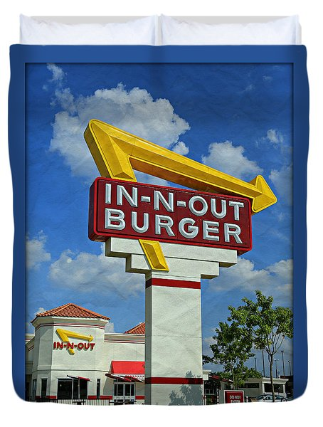 Classic Cali Burger 1.1 Duvet Cover by Stephen Stookey