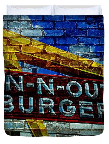 Classic Cali Burger 2.4 Duvet Cover