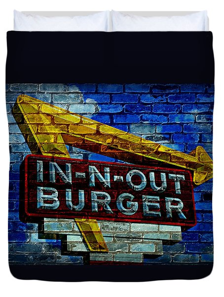 Classic Cali Burger 2.4 Duvet Cover by Stephen Stookey