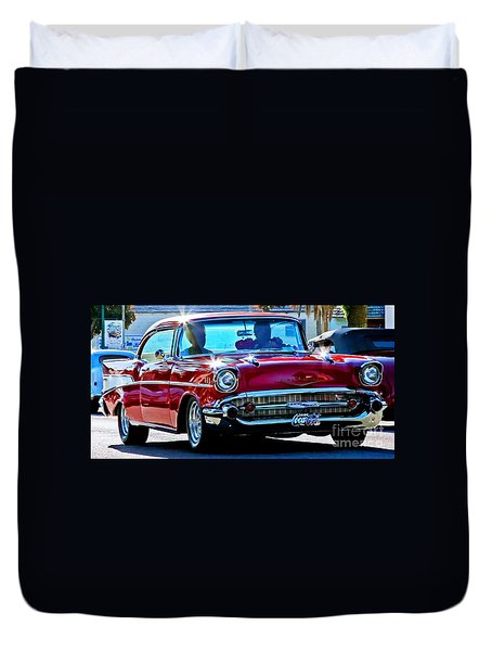 Classic Chevrolet Duvet Cover by Tap On Photo