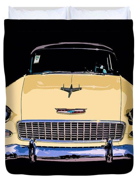 Classic Chevy Pop Art Duvet Cover by Edward Fielding