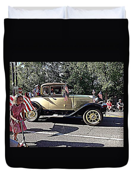 Classic Children's Parade Classic Car East Millcreek Utah 1 Duvet Cover by Richard W Linford