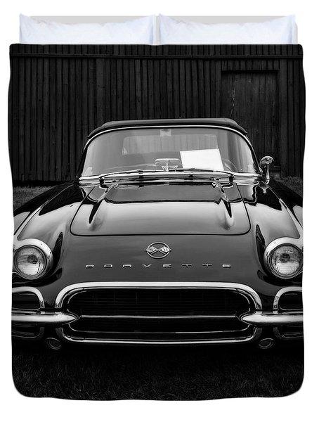 Classic Corvette Duvet Cover by Edward Fielding