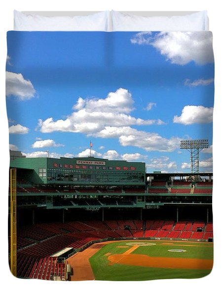 Duvet Cover featuring the photograph Classic Fenway I  Fenway Park by Iconic Images Art Gallery David Pucciarelli