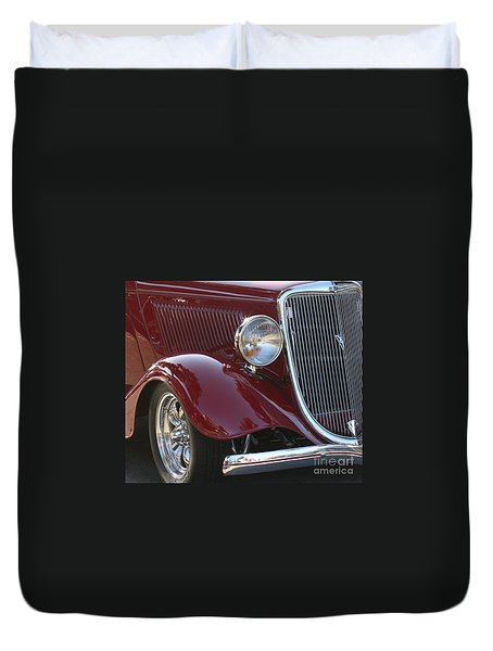 Classic Ford Car Duvet Cover