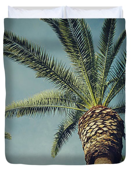 Duvet Cover featuring the photograph Classic Palms2 by Meghan at FireBonnet Art