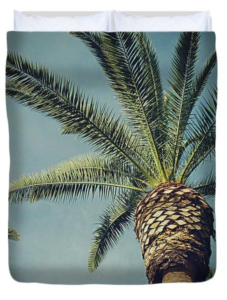 Duvet Cover featuring the photograph Classic Palms2 by Meghan at FireBonnet Art
