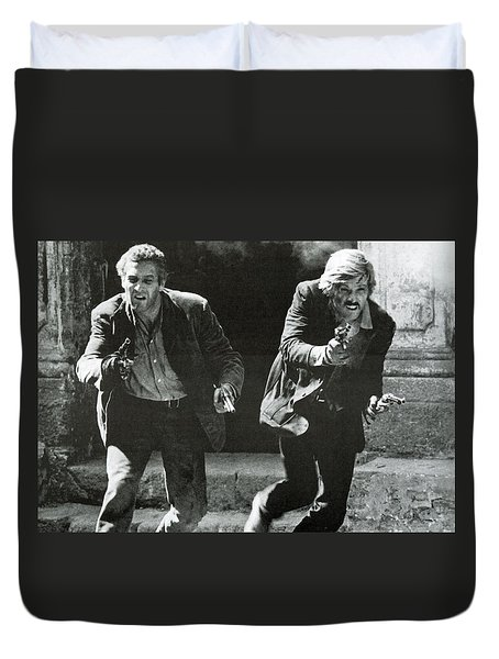 Classic Photo Of Butch Cassidy And The Sundance Kid Duvet Cover