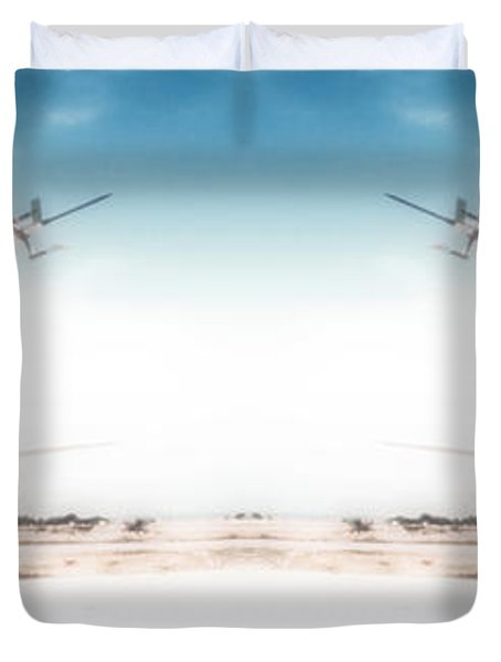 Duvet Cover featuring the photograph Propeller Aircraft by R Muirhead Art